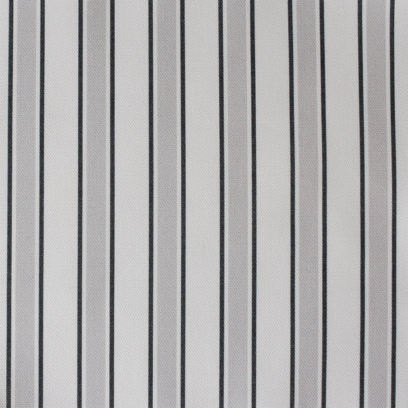 Regatta Stripe cotton linen fabric grey