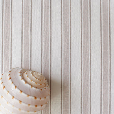 Regatta Stripe cotton linen fabric beige