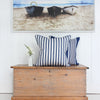 Regatta Stripe Navy blue cushion