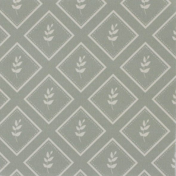 Eau de Nil green little leaf pattern cotton linen fabric