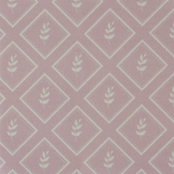 Peony pink little leaf pattern cotton linen fabric