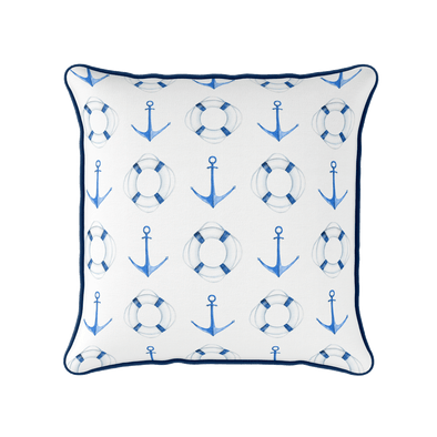 Anchor Life Ring nautical cushion