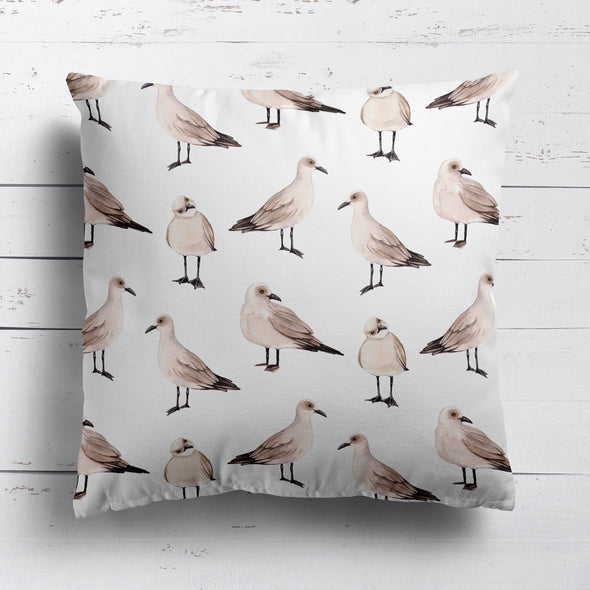 Seagull cushion coastal nautical style