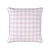 pretty pink gingham check piped cushion