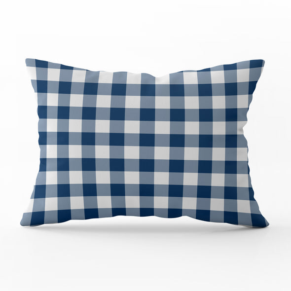 Small Gingham Rectangle Cushion