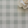 gingham check cotton linen fabric eau de nil green