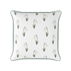 Snow drop flower piped cushion
