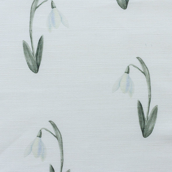 snow drops floral fabric