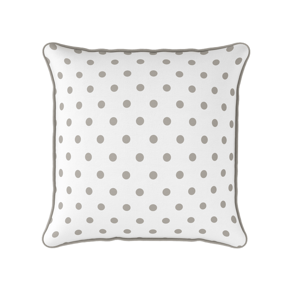 chateaux taupe spot piped cushion