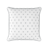 dove grey spot piped cushion
