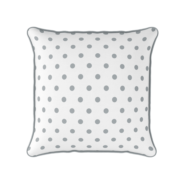 koala grey spot piped cushion