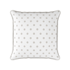 linen beige spot piped cushion