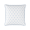 serenity blue spot piped cushion