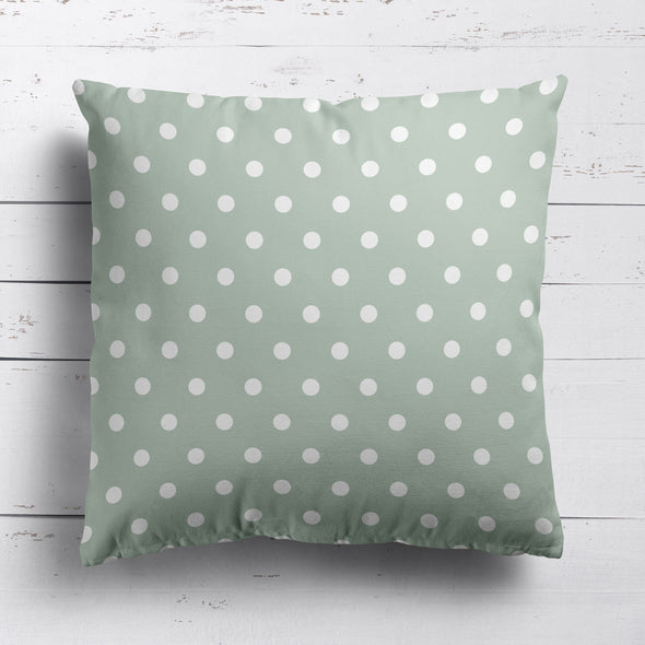 Spotty Day Reverse Fabric - Eau De Nil