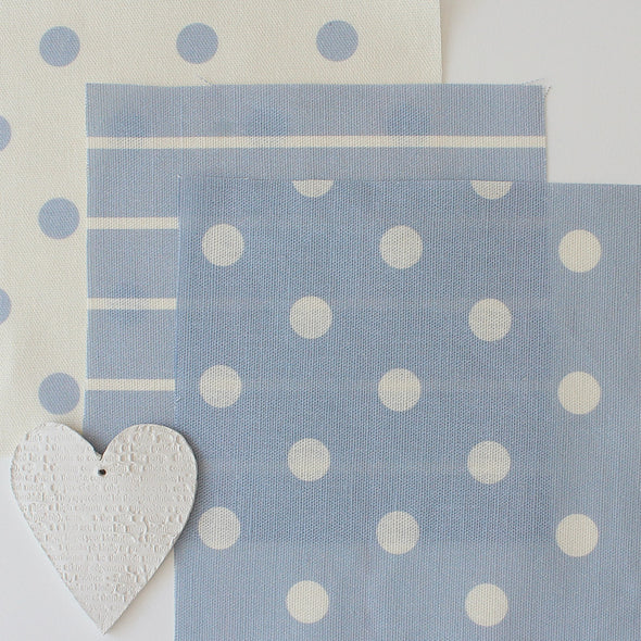 Spot Dot cotton linen fabric in Cornflower blue