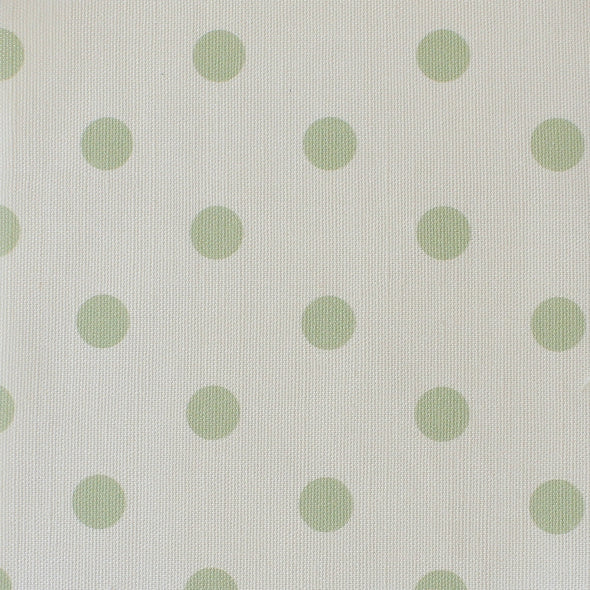 Spot Dot cotton linen fabric in Elderflower green