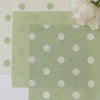 Spotty Day Reverse Fabric - Elderflower