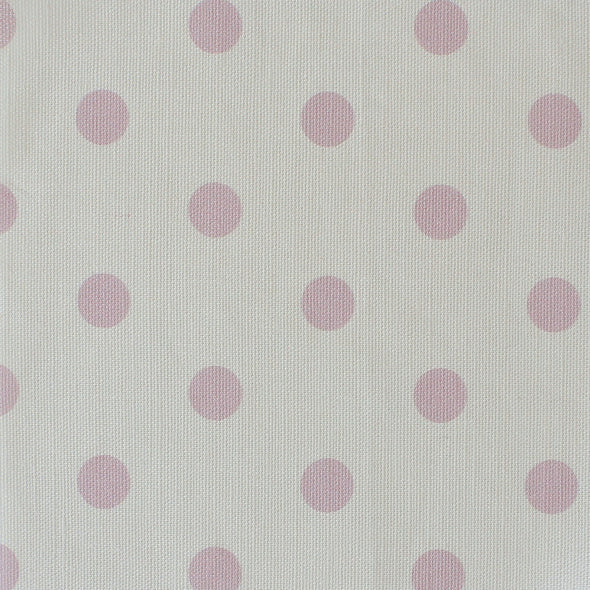 Spot Dot cotton linen fabric in Peony pink