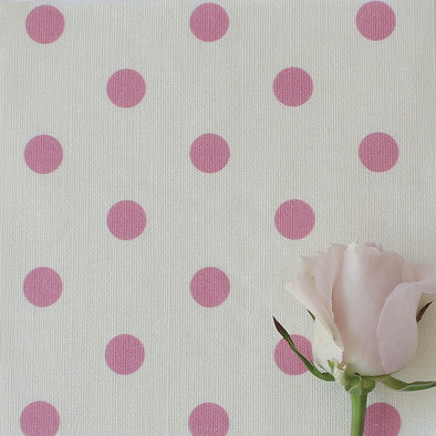 Spotty Day Fabric - Tickled Pink