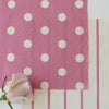 Spot Dot cotton linen fabric in Tickled pink