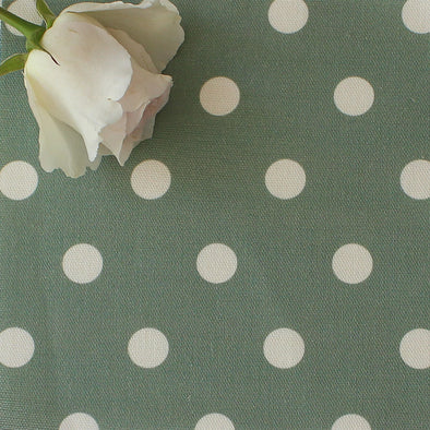 Spotty Day Reverse Fabric - Eucalyptus