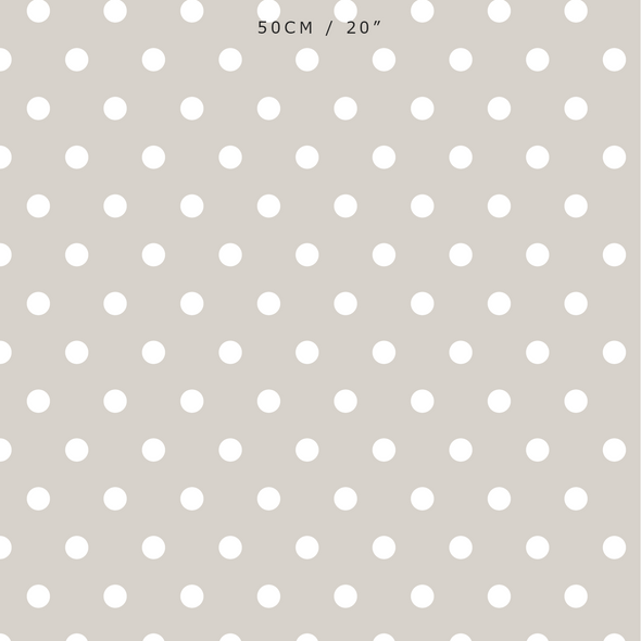 Spot Dot cotton linen fabric in neutral beige