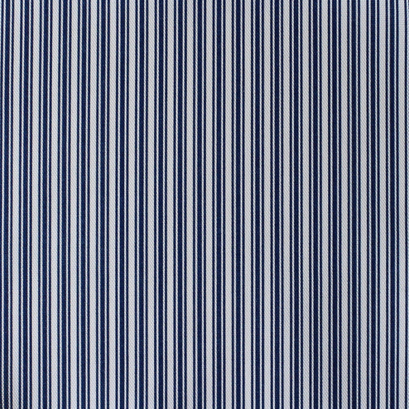 Ticking Stripe cotton linen fabric in Navy blue
