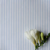 Ticking Stripe cotton linen fabric in Serenity blue