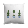 chinoiserie topiary tree cushion