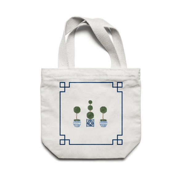 Chinoiserie Topiary Trees Cotton Tote Bag