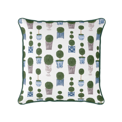 Topiary tree piped cushion