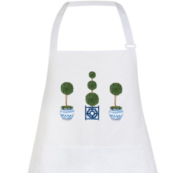 Chinoiserie Topiary Tree Apron