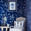 chinoiserie topiary tree cushion wallpaper