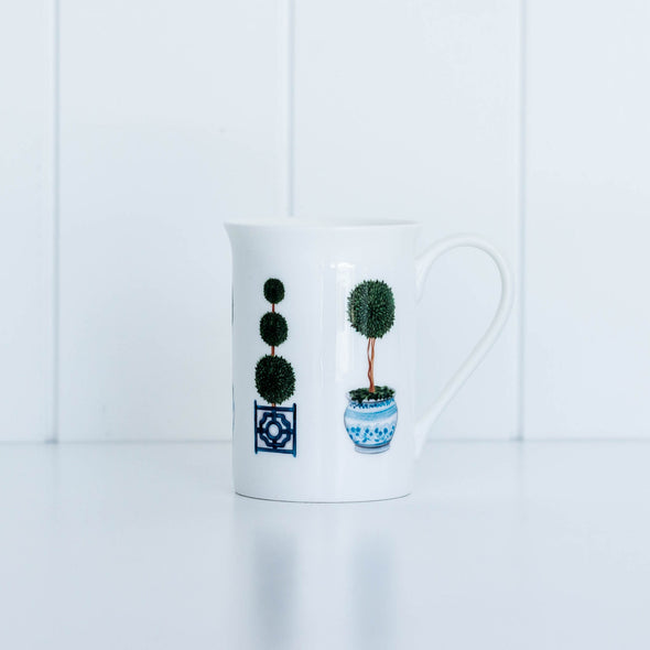 Topiary tree fine bone china mug