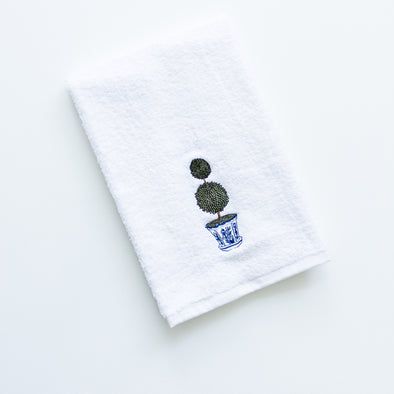 Topiary tree hand towel
