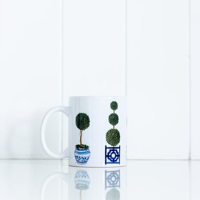 Pretty topiary tree mug