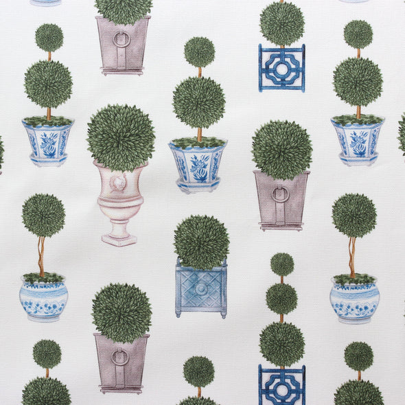 Topiary Tree printed cotton linen fabric