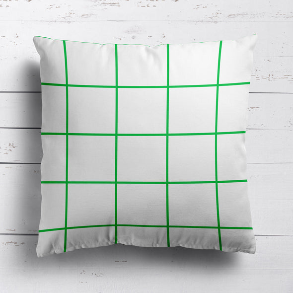 Window Pane Check Fabric - Emerald
