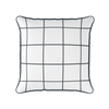 Modern Check charcoal piped cushion