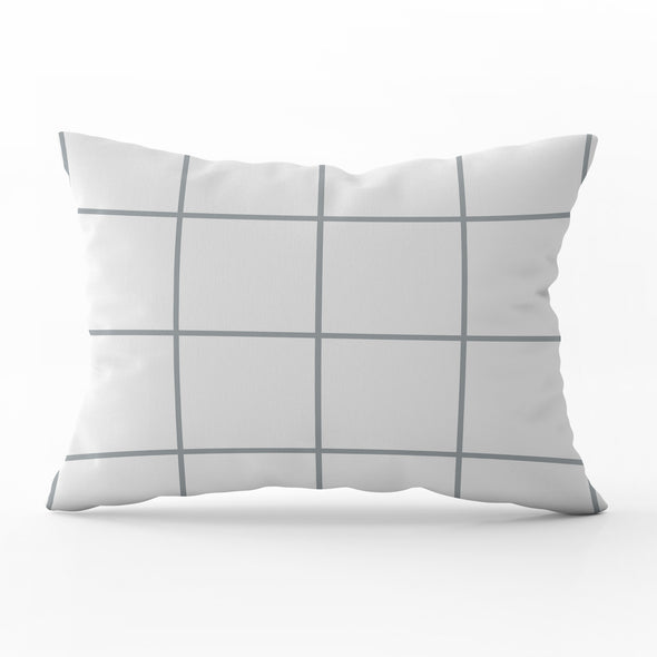 Window Pane check cushion Country style