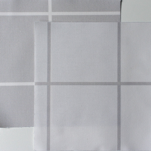 Window Pane Check Fabric - Dove
