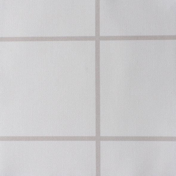 Window Pane Check Fabric - Linen