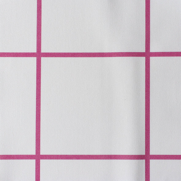 Window Pane Check Fabric - Raspberry