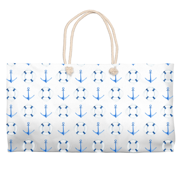 Sail Away Carry All Tote - White