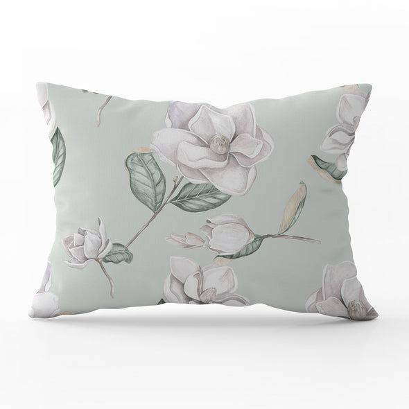 magnolia flower rectangle cushion