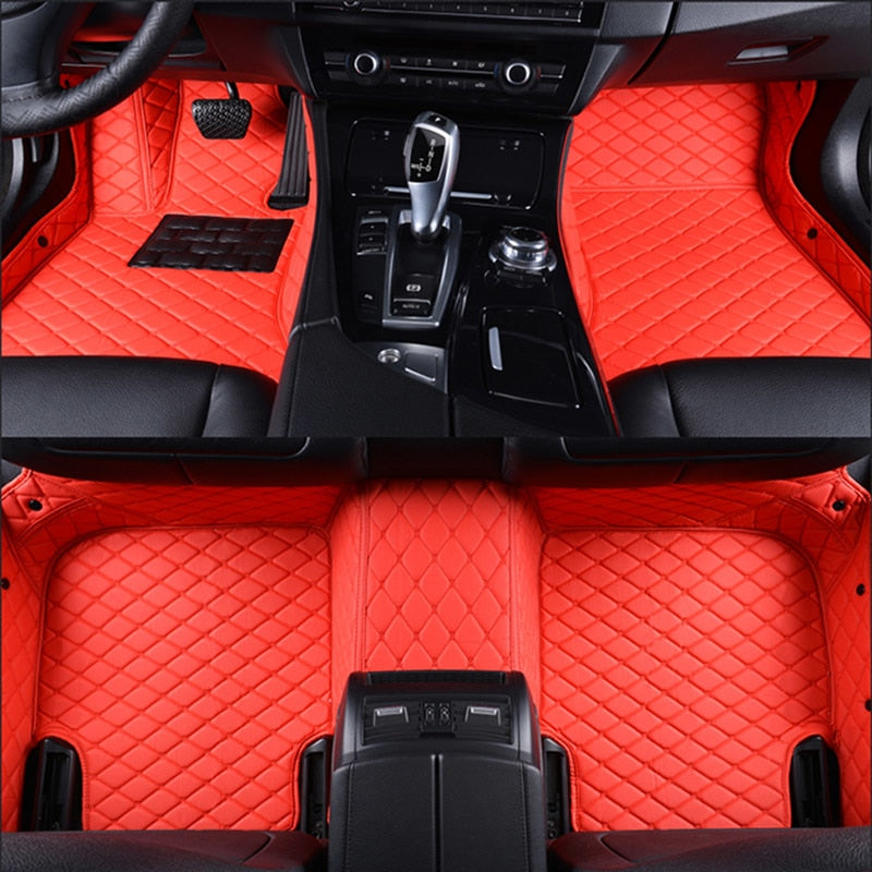 Incredible Car Floor Mats For Jaguar Xf Xe Xjl Xj6 Xj6L F Pace F Type Brand Firm Soft Car Accessories Car Styling Custom Floor Mats Red Theyellowbook Wood Chair Design Ideas Theyellowbookinfo