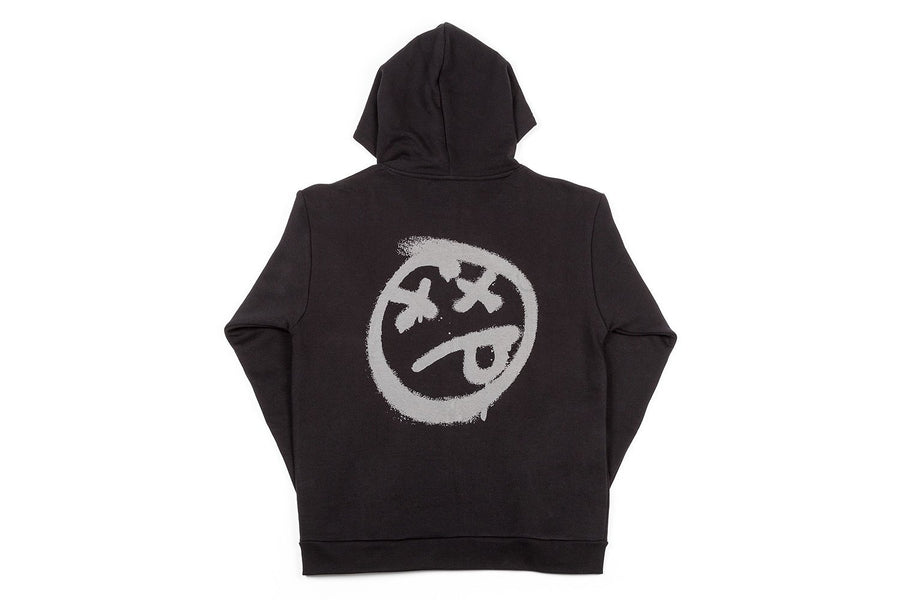 ACID FACE ZIP UP HOODED SWEATSHIRT