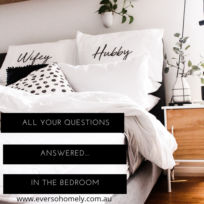 ALL YOUR QUESTIONS ANSWERED- IN THE BEDROOM...