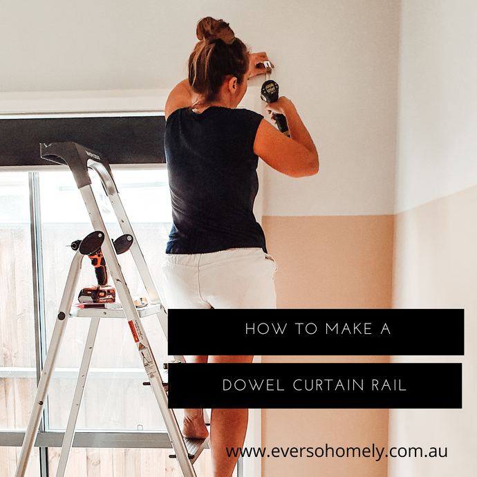 HOW TO MAKE A DOWEL CURTAIN RAIL