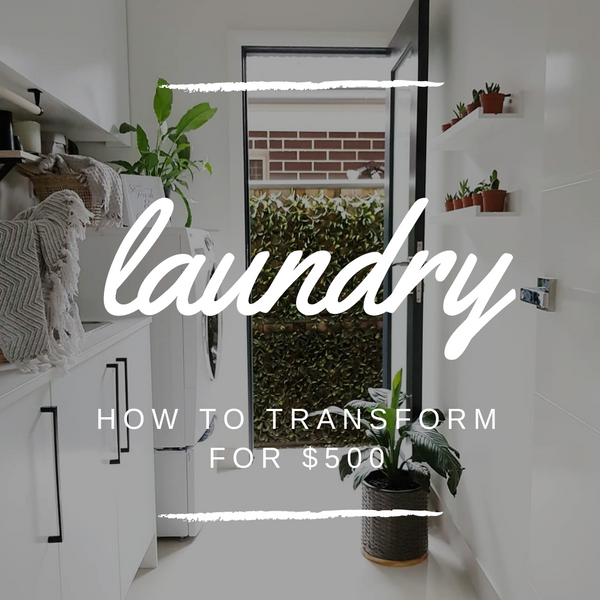 How to TRANSFORM your Laundry for only $500!